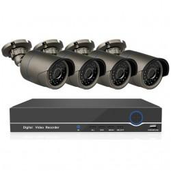 4 IP lauko/vidaus kamerų stebėjimo sistema 2 Mp