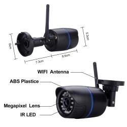 Bevielė IP 720P Wi-Fi kamera (MICROSD)