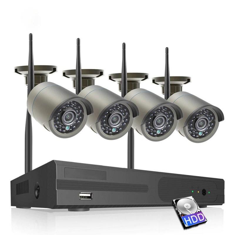 Belaidė 4 IP lauko/vidaus kamerų stebėjimo sistema 2 Mp